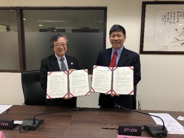 台湾 国立聯合大学との締結式