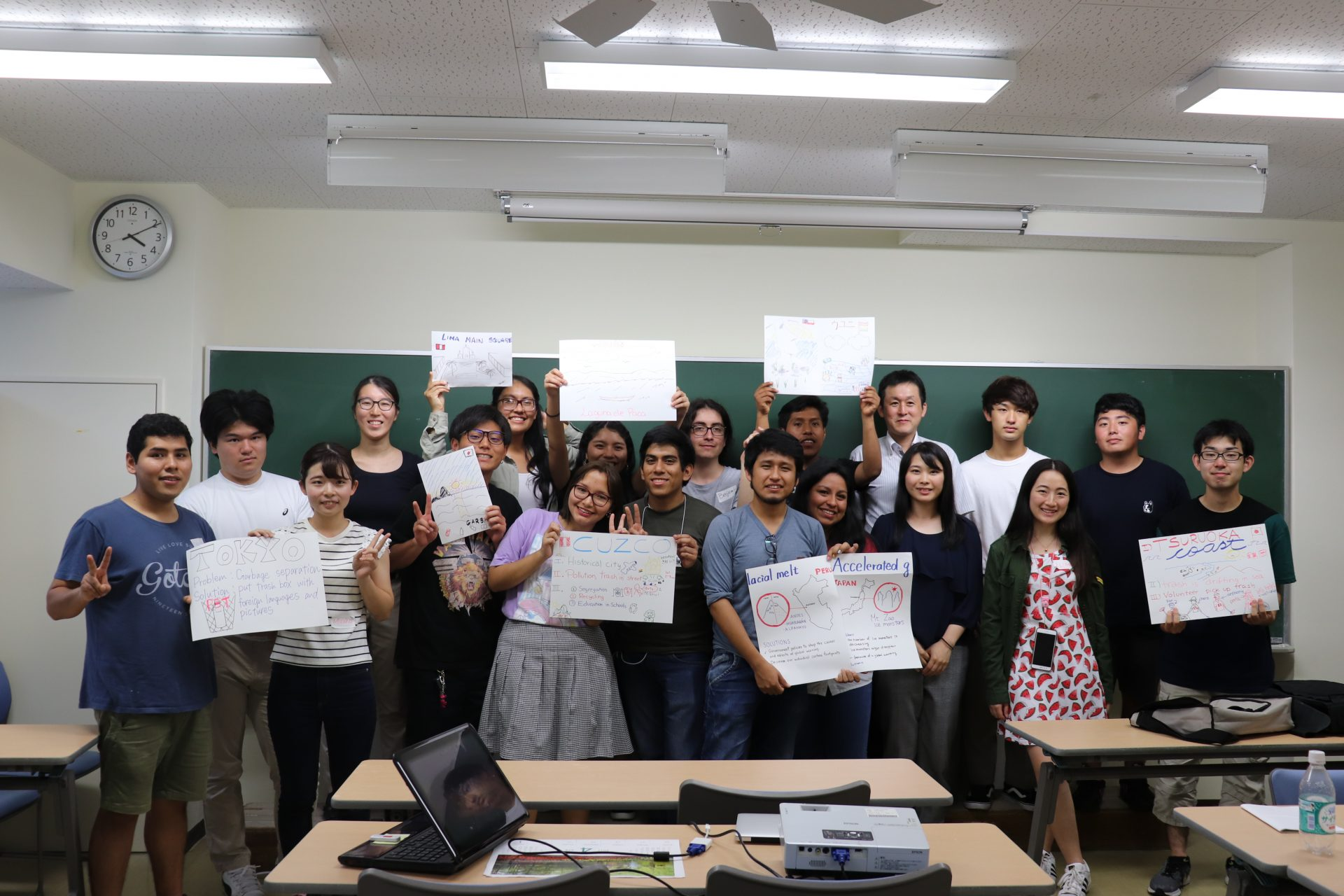 南米から留学生が来校
